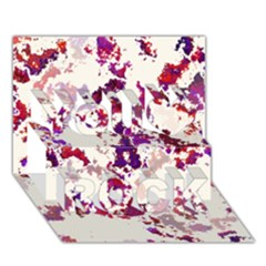Splatter White You Rock 3d Greeting Card (7x5)
