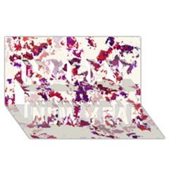 Splatter White Happy New Year 3d Greeting Card (8x4)