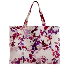 Splatter White Zipper Tiny Tote Bags