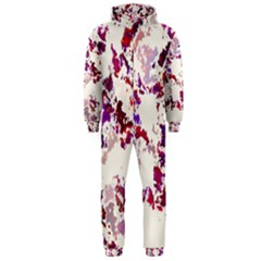 Splatter White Hooded Jumpsuit (Men)