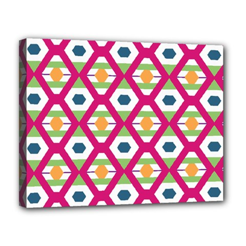Honeycomb In Rhombus Pattern Canvas 14  X 11  (stretched)