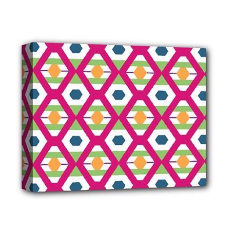 Honeycomb in rhombus pattern Deluxe Canvas 14  x 11  (Stretched)