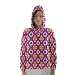 Honeycomb In Rhombus Pattern Hooded Wind Breaker (women)