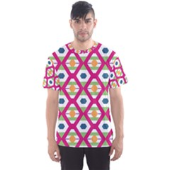 Honeycomb in rhombus pattern Men s Sport Mesh Tee