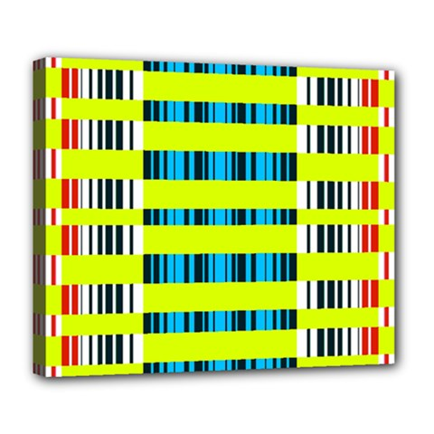 Rectangles and vertical stripes pattern Deluxe Canvas 24  x 20  (Stretched)