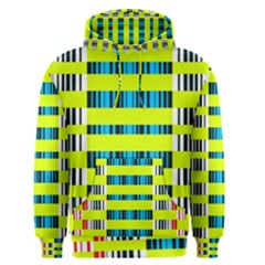 Rectangles and vertical stripes pattern Men s Pullover Hoodie