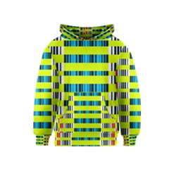 Rectangles and vertical stripes pattern Kid s Pullover Hoodie
