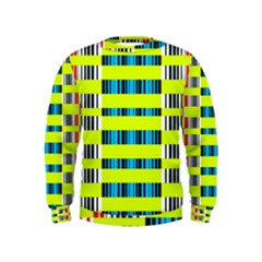 Rectangles and vertical stripes pattern  Kid s Sweatshirt