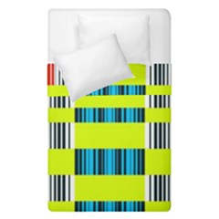 Rectangles And Vertical Stripes Pattern  Duvet Cover (single Size)