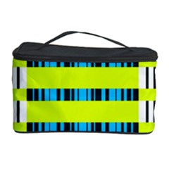 Rectangles and vertical stripes pattern Cosmetic Storage Case