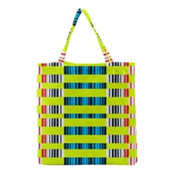 Rectangles and vertical stripes pattern Grocery Tote Bag