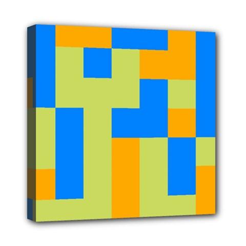 Tetris shapes Mini Canvas 8  x 8  (Stretched)