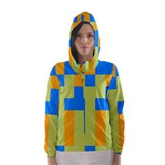 Tetris shapes Hooded Wind Breaker (Women)