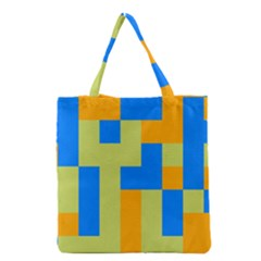 Tetris shapes Grocery Tote Bag