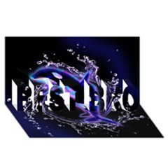 Orca With Glowing Line Jumping Out Of A Circle Mad Of Water BEST BRO 3D Greeting Card (8x4)