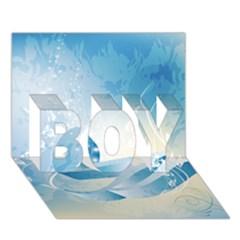 Music Boy 3d Greeting Card (7x5)