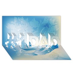 Music #1 DAD 3D Greeting Card (8x4)