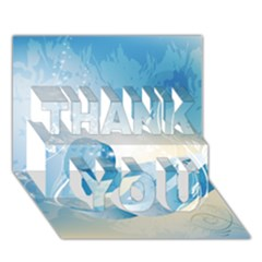 Music Thank You 3d Greeting Card (7x5)