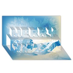Music Merry Xmas 3D Greeting Card (8x4)