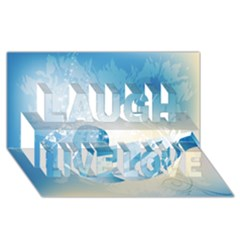 Music Laugh Live Love 3d Greeting Card (8x4)