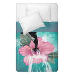 Orca Jumping Out Of A Flower With Waterfalls Duvet Cover (single Size)