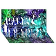 Strange Abstract 1 Happy Birthday 3D Greeting Card (8x4)