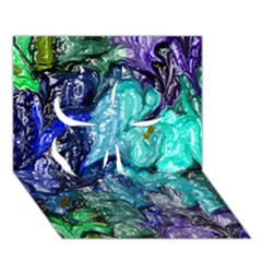 Strange Abstract 1 Clover 3D Greeting Card (7x5)