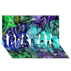 Strange Abstract 1 BEST SIS 3D Greeting Card (8x4)