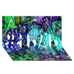 Strange Abstract 1 #1 Dad 3d Greeting Card (8x4)