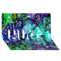 Strange Abstract 1 Hugs 3d Greeting Card (8x4)