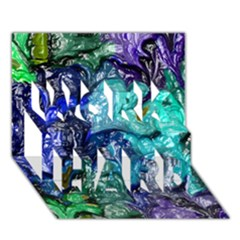 Strange Abstract 1 WORK HARD 3D Greeting Card (7x5)