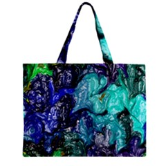 Strange Abstract 1 Zipper Tiny Tote Bags