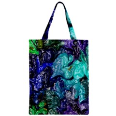 Strange Abstract 1 Zipper Classic Tote Bags