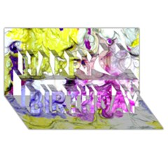 Strange Abstract 2 Soft Happy Birthday 3D Greeting Card (8x4)