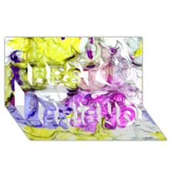 Strange Abstract 2 Soft Best Friends 3d Greeting Card (8x4)