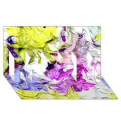 Strange Abstract 2 Soft MOM 3D Greeting Card (8x4)
