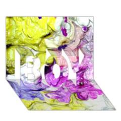 Strange Abstract 2 Soft Boy 3d Greeting Card (7x5)
