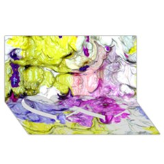 Strange Abstract 2 Soft Twin Heart Bottom 3d Greeting Card (8x4)