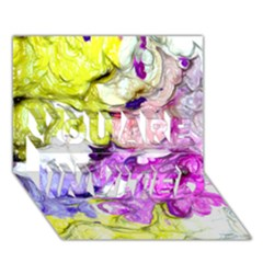 Strange Abstract 2 Soft YOU ARE INVITED 3D Greeting Card (7x5)