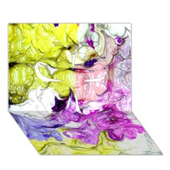 Strange Abstract 2 Soft Clover 3D Greeting Card (7x5)