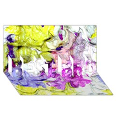 Strange Abstract 2 Soft Best Bro 3d Greeting Card (8x4)