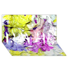 Strange Abstract 2 Soft BEST SIS 3D Greeting Card (8x4)