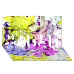 Strange Abstract 2 Soft #1 DAD 3D Greeting Card (8x4)