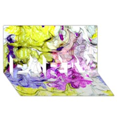 Strange Abstract 2 Soft PARTY 3D Greeting Card (8x4)