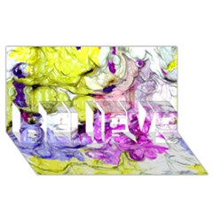 Strange Abstract 2 Soft BELIEVE 3D Greeting Card (8x4)