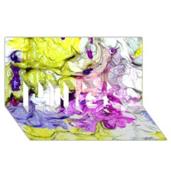 Strange Abstract 2 Soft HUGS 3D Greeting Card (8x4)