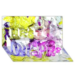 Strange Abstract 2 Soft Best Wish 3D Greeting Card (8x4)