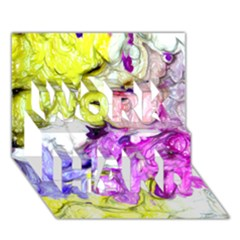 Strange Abstract 2 Soft WORK HARD 3D Greeting Card (7x5)