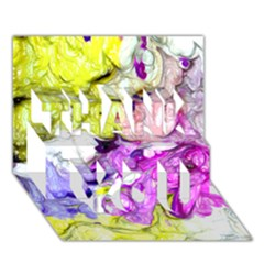 Strange Abstract 2 Soft THANK YOU 3D Greeting Card (7x5)