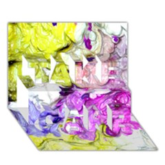 Strange Abstract 2 Soft Take Care 3d Greeting Card (7x5)